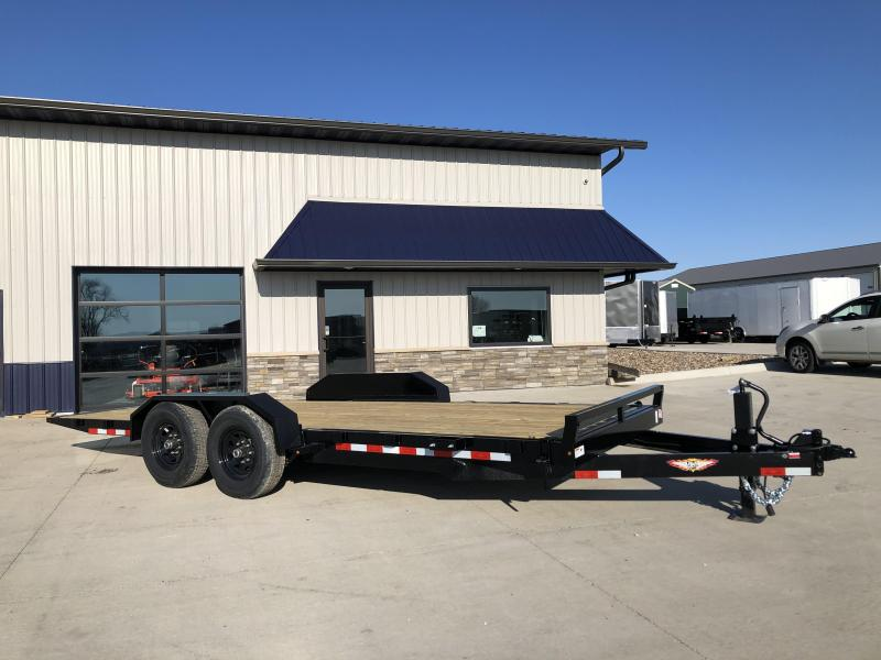 "2020 H and H Trailers 82""x20' GTL Gravity Tilt-Bed 7k Axles Equipment/Car Trailer"