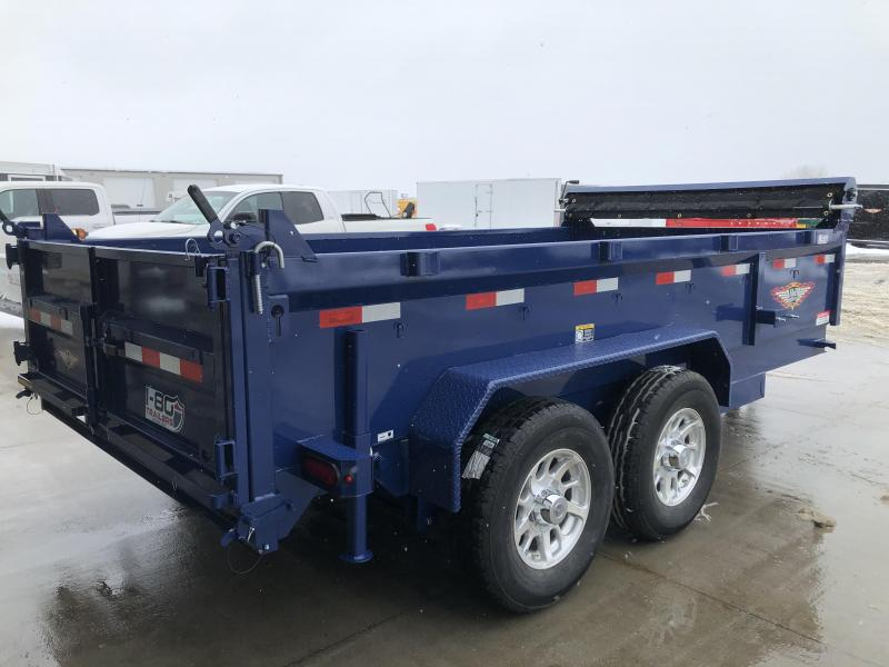 2021 H&H  BLUE 83X14 TANDEM AXLE INDUSTRIAL DUMP TRAILER