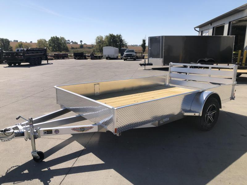 2022 H&H Aluminum 76X12 Single Axle Solid Side Utility Trailer