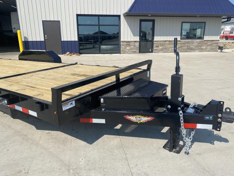 2022 H&H Black 82x16+6 Tandem Gravity Tilt Equipment Trailer