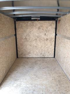 2020 H&H 7'X16' WHITE TANDEM FLAT TOP V-NOSE 7K CARGO TRAILER