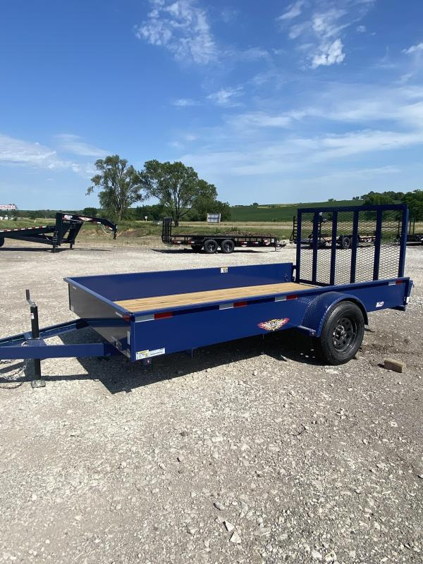 2022 H&H Trailers Blue 82x14 3K Solid Side Utility Trailer