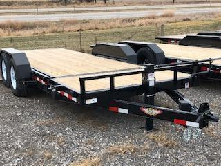 2021 H and H Trailers 8.5'x16'+4' GTL Stationary Deck 7k Axles Gravity Tilt-Bed 7k Axles Equipment/Car Trailer