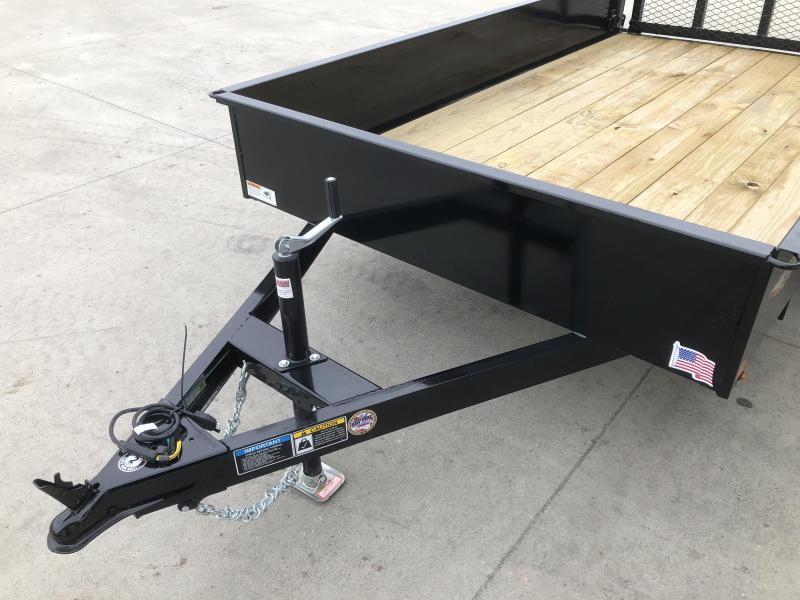 2022 H&H Trailers Black 76x10 3K Solid Side Utility Trailer