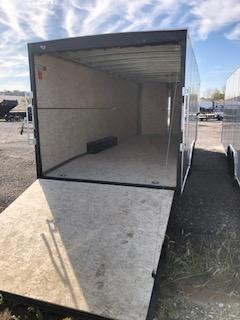 2021 H&H 8.5X24 PEWTER FLAT TOP V-NOSE 10K ENCLOSED CAR HAULER