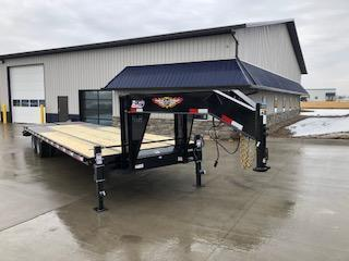 2021 H and H Trailer 2021 H and H BLACK 102X25+5 GN DECKOVER 10K AXLES Equipment Trailer