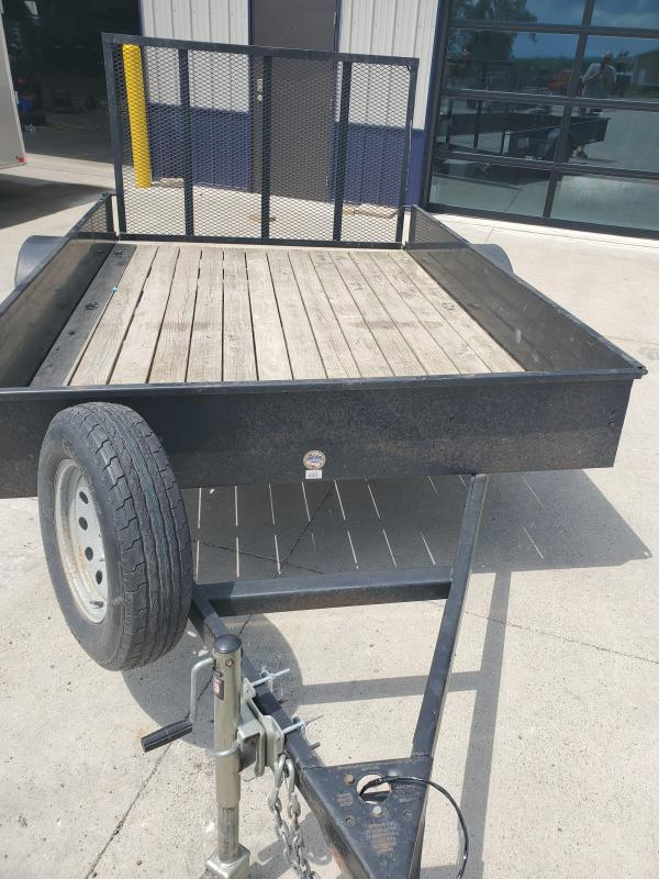 "2015 TESKE BLACK 79""X10' SOLID SIDE UTILITY TRAIL WITH SPARE"