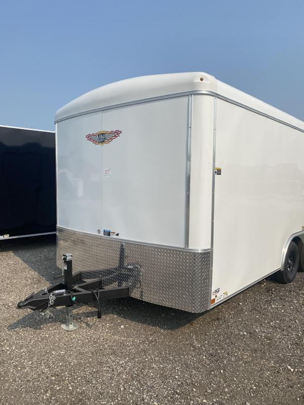 2021 H&H White 8.5x16 Tandem Round Top Round Nose Enclosed Cargo Trailer