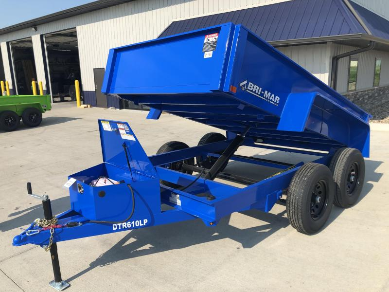 2022 Bri-Mar Blue 72x10 10K Dump Trailer