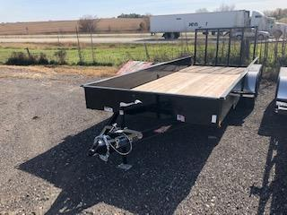 2021 H&H Black 82X18 Tandem Axle Solid Side Utility Trailer