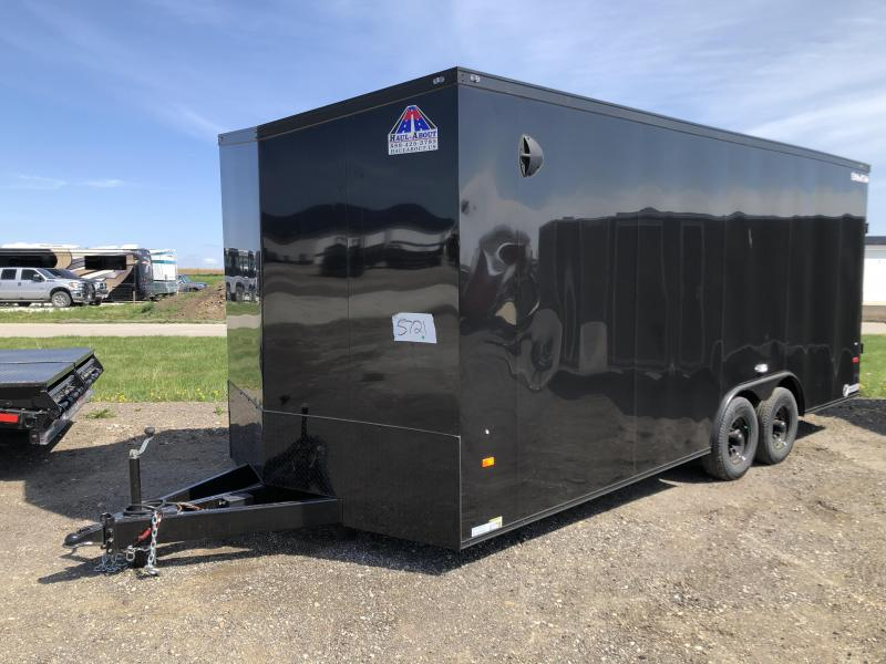 2021 HAUL-ABOUT COUGAR BLACK 8.5X20 TANDEM AXLE FLAT TOP ENCLOSED CARGO TRAILER