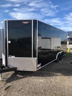 2021 H&H 8.5X20 BLACK FLAT TOP V-NOSE 10K ENCLOSED CAR HAULER