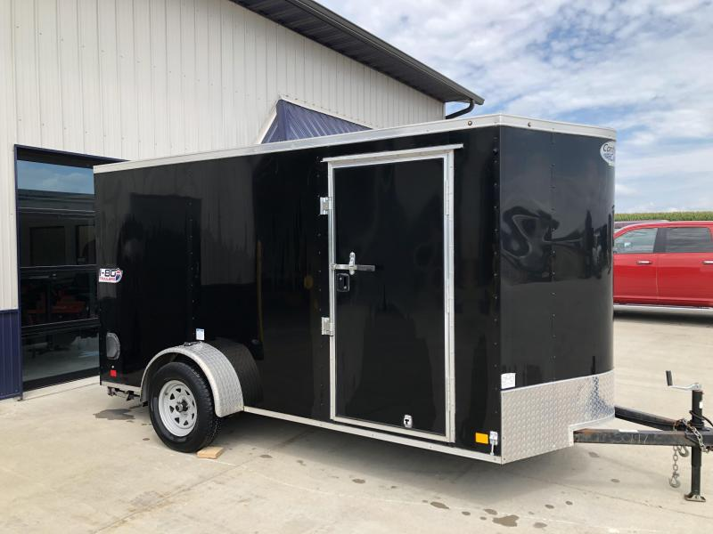2018 CONTINENTAL CARGO BLACK 6X12 SINGLE AXLE ENCLOSED CARGO TRAILER