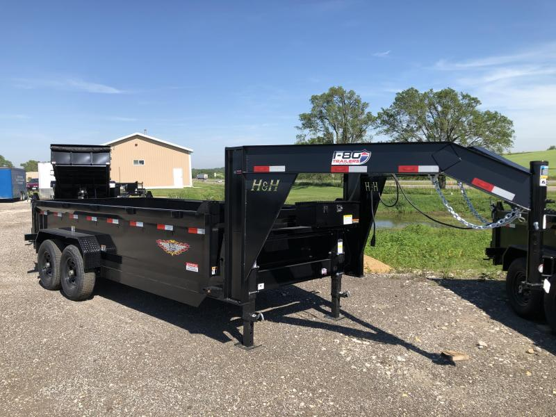 2021 H and H Trailer 83X14 DBW GN DUMP BOX 14K