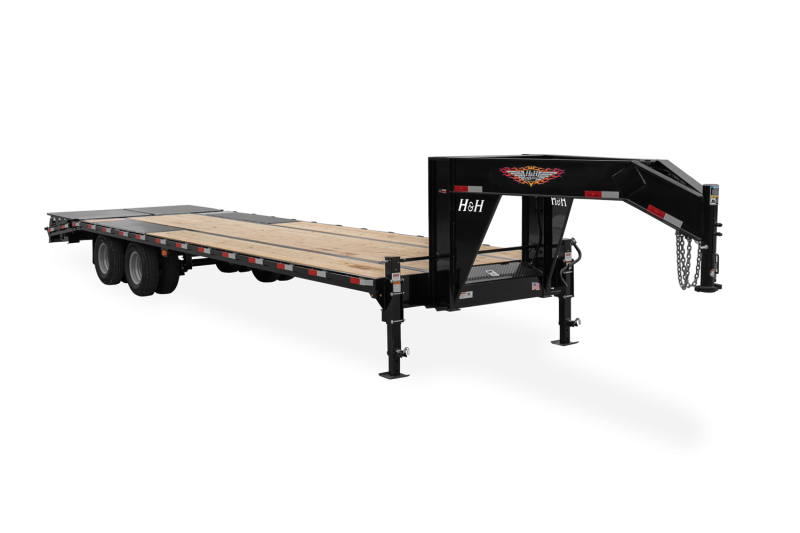 2021 H and H Trailer 102x20+5 HD Low Profile Super Deluxe Ramps