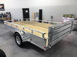 2021 H&H ALUMINUM 82X16 SINGLE AXLE SOLID SIDE UTILITY TRAILER