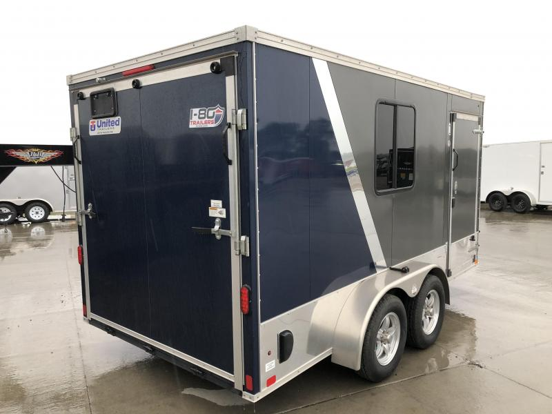 2014 UNITED CHARCOAL/BLUE 7X14 ENCLOSED CARGO TRAILER