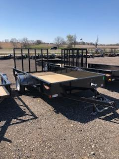2021 H&H 76X12 STEEL SOLID SIDE SINGLE AXLE UTILITY TRAILER