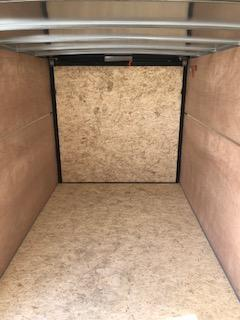 2020 H and H Trailers 5'x10' White Cargo 3.5k Axle Enclosed Flat Top V-Nose Trailer