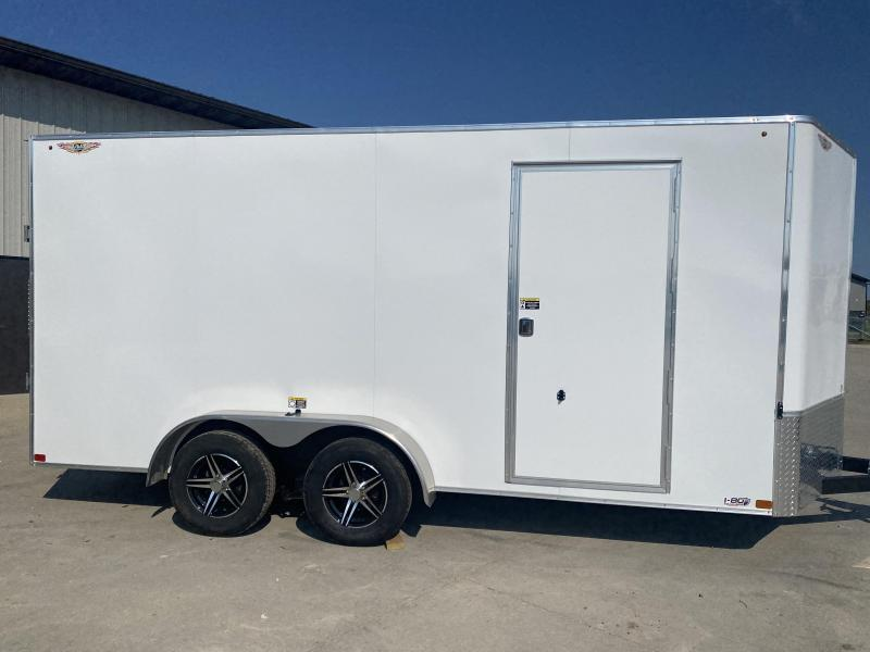 2022 H&H Trailers White 7x16 7K Enclosed Cargo Trailer