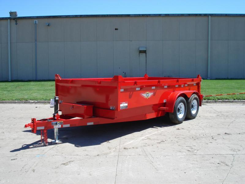 "2021 H&H 83""x16' RED DBW DUMP BOX WITH 7K AXLES"