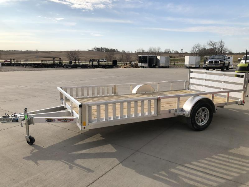 "2021 H&H 82""x14' ALUMINUM SINGLE AXLE ATV UTILITY TRAILER"