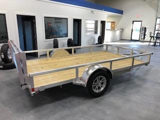 2021 H&H Trailers Aluminum 82x12 3K Rail Side Utility Trailer