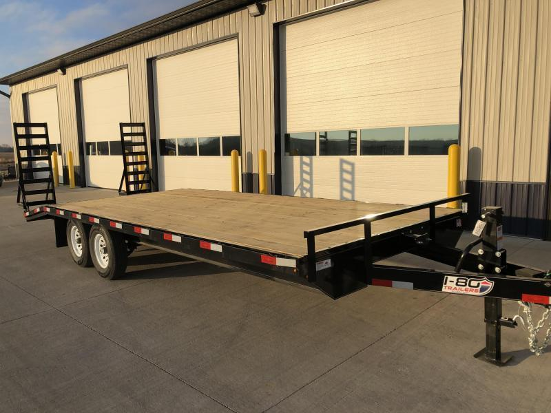 "2020 H&H 102""x 18'+4' BLACK DECKOVER 14K EQUIPMENT TRAILER"