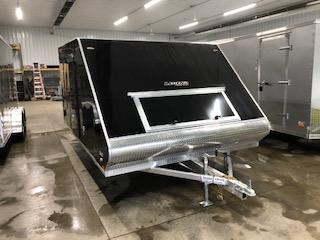 "2020 Legend Manufacturing 101""x13' Black Enclosed Hybrid Snowmobile Trailer With 3.5k Axle"