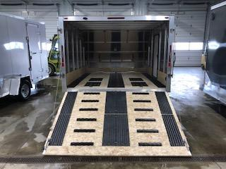 """2020 Legend Manufacturing 101""""x13' Black Enclosed Hybrid Snowmobile Trailer With 3.5k Axle"""