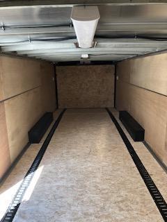 2021 H&H Charcoal 8.5x24 Tandem Flat Top V-Nose Enclosed Cargo Trailer