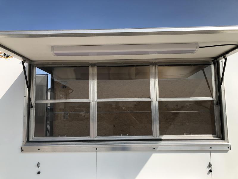 2022 H&H Trailers White 7x14 7K Vending / Concession Trailer