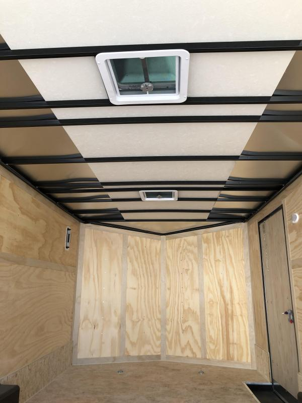 2021 HAUL-ABOUT COUGAR CHARCOAL 8.5X16 TANDEM FLAT TOP V-NOSE ENCLOSED CARGO TRAILER