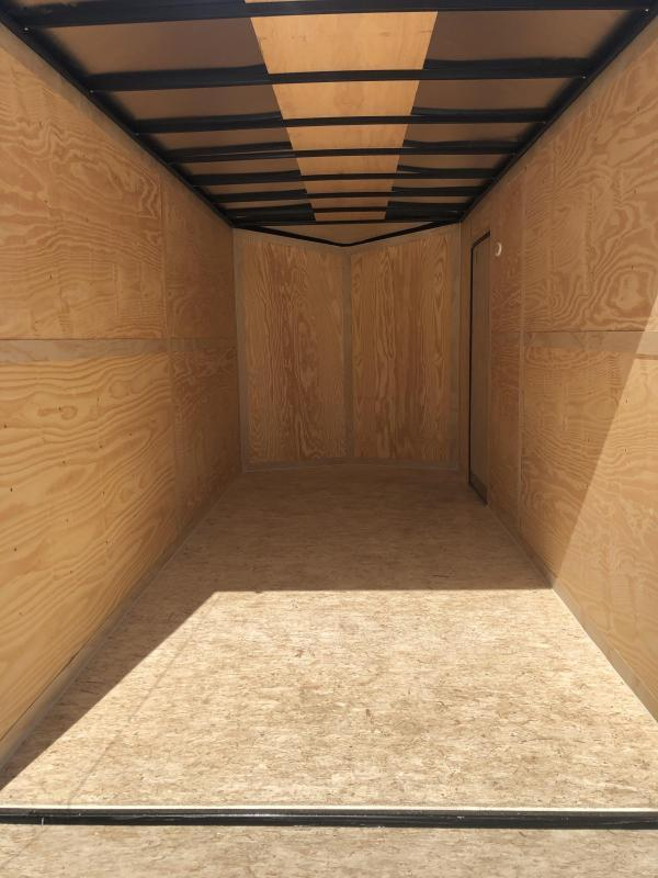 2021 HAUL-ABOUT COUGAR BLACK 7X12 TANDEM FLAT TOP V-NOSE ENCLOSED CARGO TRAILER