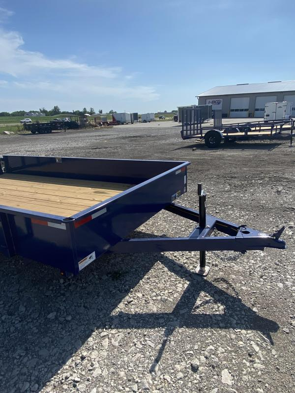 2021 H&H Trailers Blue 76x12 Solid Side 3K Utility Trailer
