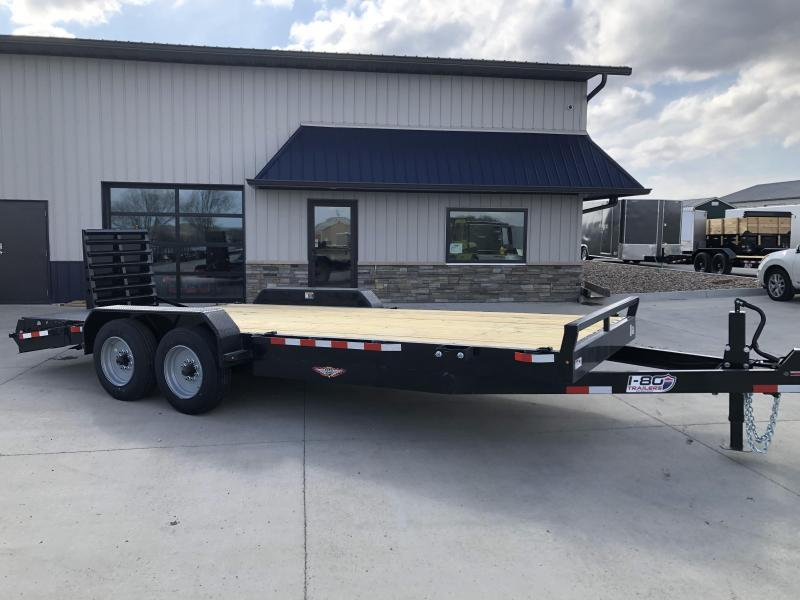 """2020 H and H Trailer 82""""x16'+4' Equipment Trailer 8k Axles With Super Deluxe Ramps"""