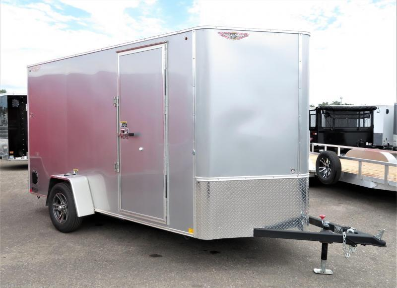 2021 H&H SILVER MIST 6x10 FLAT TOP V-NOSE SINGLE AXLE CARGO TRAILER