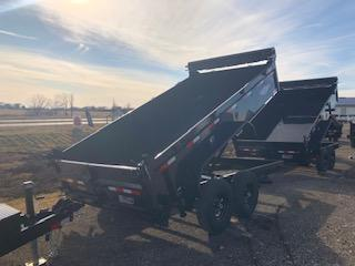 "2021 H&H 83""X14' BLACK 7K AXLES DBW DUMP BOX TRAILER"