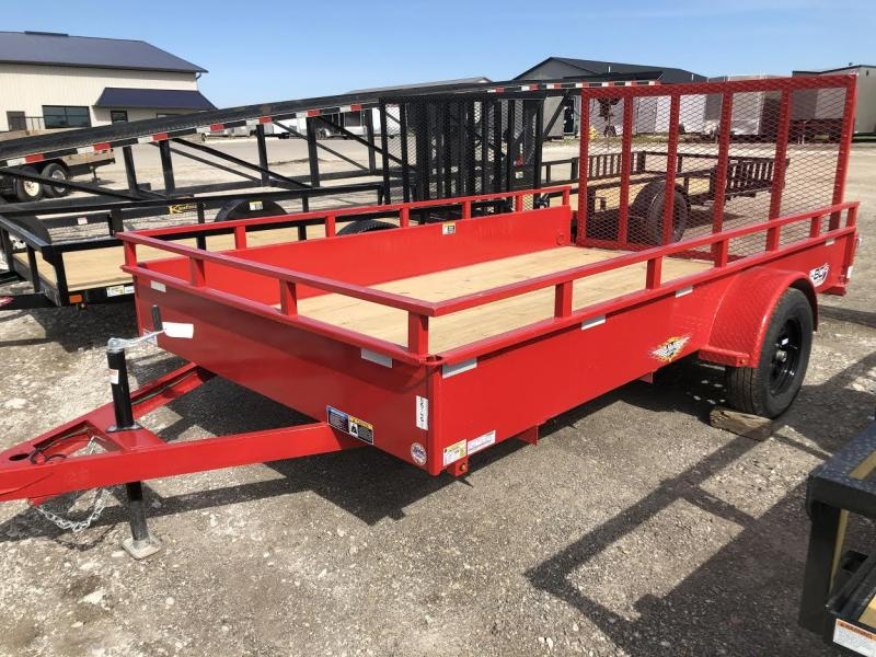 2021 H&H 82X12 Single Axle Solid Side Utility Trailer