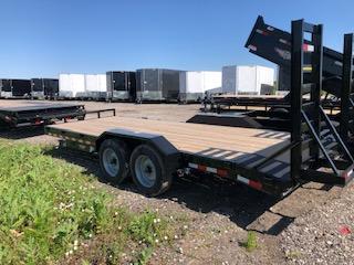2021 H&H Trailers Black 82x18+2 Tandem Axle Industrial Equipment Trailer