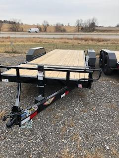 2021 H and H Trailers GTL 8.5'x16'+6' Stationary Deck 7k Axles Gravity Tilt-Bed Equipment Trailer