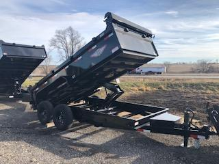2021 H and H Trailer BLACK 83X14 TANDEM INDUSTRIAL GOOSENECK Dump Trailer