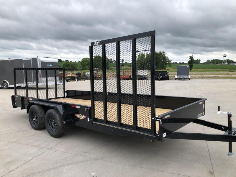 2021 H&H Trailers 82x18 Black Tandem Axle Solid Side Utility Trailer