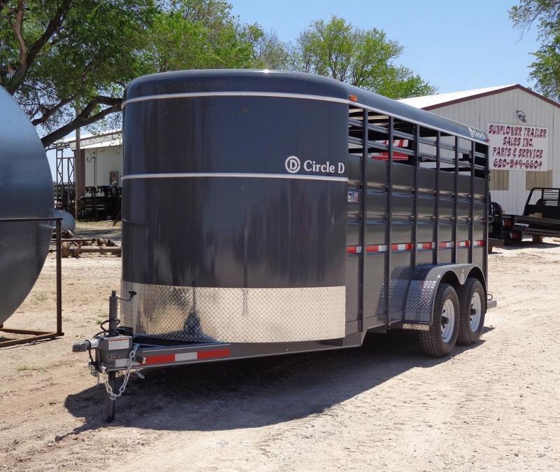 2021 Circle D 6'8 x 16' Livestock Trailer