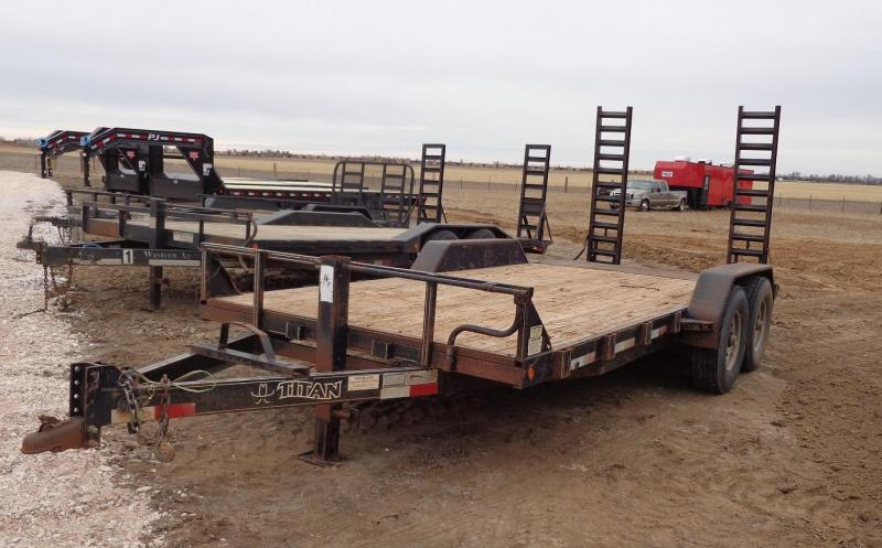 "2006 Titan Trailers 82"" x 18' Equipment Trailer"