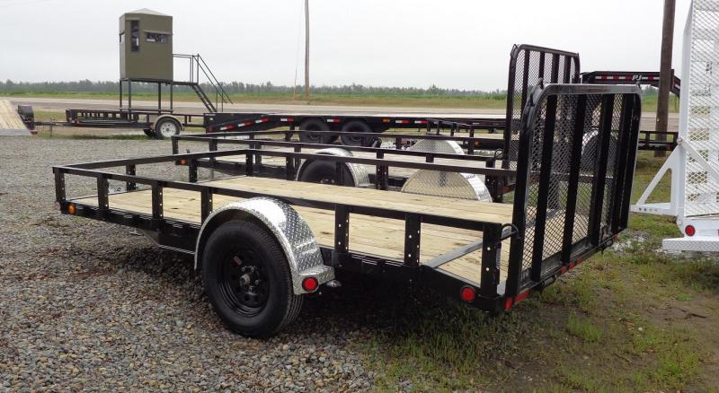 2020 PJ Trailers 77 in. x 12' Single Axle Channel Utility (U7) Utility Trailer