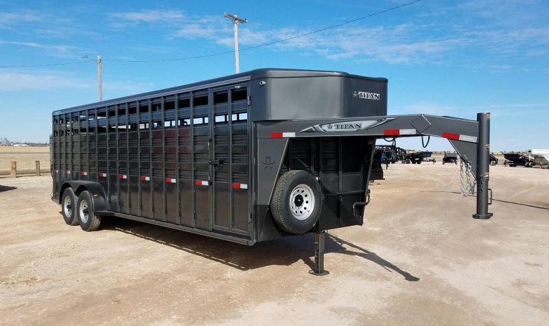 2021 Titan 6'8 x 24' Standard Livestock Trailer
