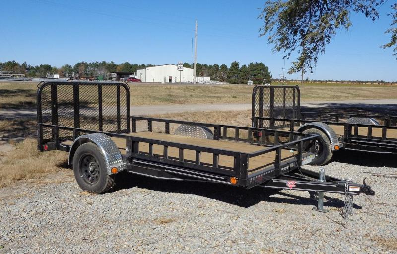 2021 PJ 12' x 77 in. Single Axle Channel Utility