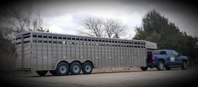 "2021 Titan Standard 6'8"" x 32' Livestock Trailer"