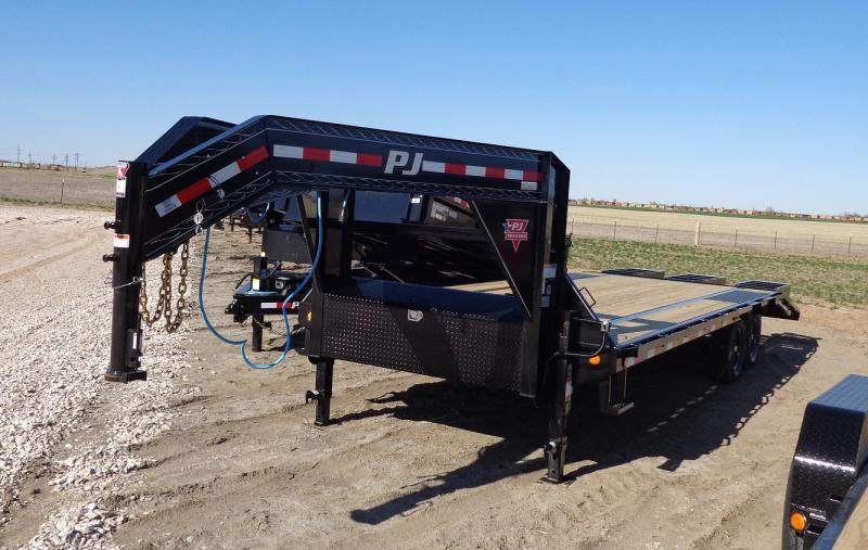 "2020 PJ Trailers 102"" x 25' Low-Pro Flatdeck with Singles (LS) Flatbed Trailer"